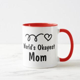 World's Okayest Mom | Cute Coffee Mug Gift