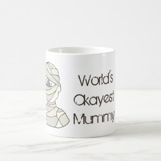 World's Okayest Mummy Halloween Mom Mug
