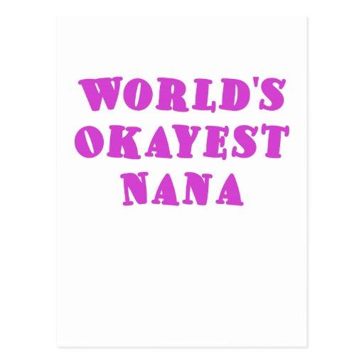 Worlds Okayest Nana Postcards