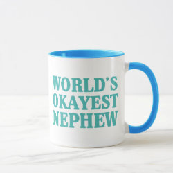 Combo Mug with World's Okayest Nephew design