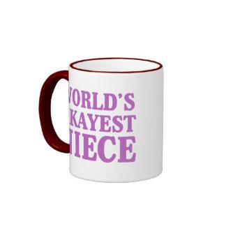 World's Okayest Niece Ringer Coffee Mug