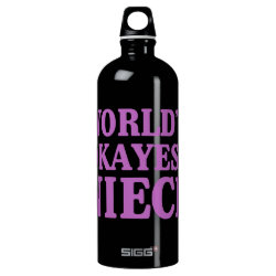 SIGG Traveller Water Bottle (0.6L) with World's Okayest Niece design