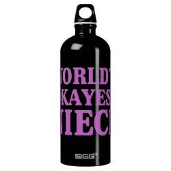 SIGG Traveller Water Bottle (0.6L) with World's Okayest Niece design