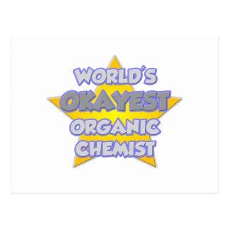 World's Okayest Organic Chemist ... Joke Post Cards