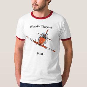 World's Okayest Pilot Funny Aviation Shirt