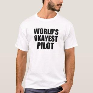 d220dc587 World's Okayest Pilot funny men's shirt