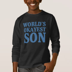Kids' Basic Long Sleeve T-Shirt with World's Okayest Son design