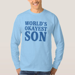 Men's Basic Long Sleeve T-Shirt with World's Okayest Son design