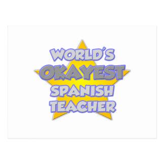 World's Okayest Spanish Teacher .. Joke Postcard