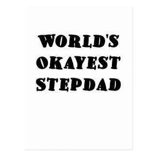 Worlds Okayest Stepdad Postcard