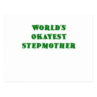 Worlds Okayest Stepmother Postcard