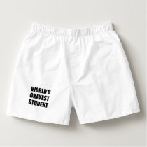 Worlds Okayest Student Boxers