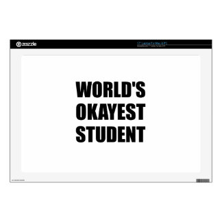 Worlds Okayest Student Decal For Laptop