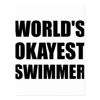 World's Okayest Swimmer Postcard