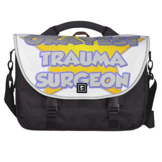 World's Okayest Trauma Surgeon .. Joke Laptop Bags