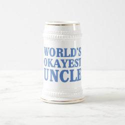 Stein with World's Okayest Uncle design