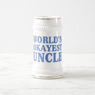 World's Okayest Uncle Beer Stein