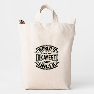 World's Okayest Uncle Duck Bag