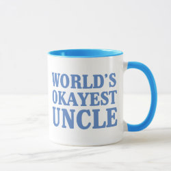 Combo Mug with World's Okayest Uncle design