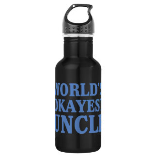 World's Okayest Uncle Water Bottle