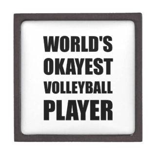 World's Okayest Volleyball Player Jewelry Box