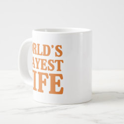 Jumbo Mug with World's Okayest Wife design