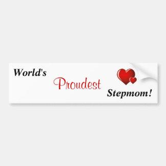 """""""World's Proudest Stepmom!"""" Bumper Sticker"""