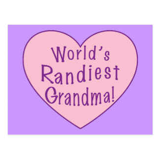 World's Randiest Grandma Postcard