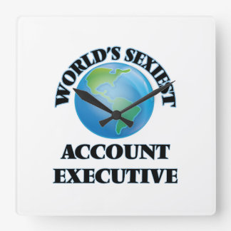 World's Sexiest Account Executive Wall Clocks
