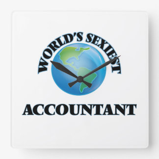 World's Sexiest Accountant Wall Clock