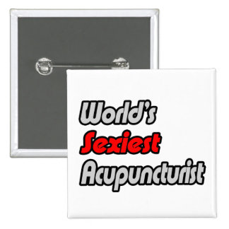 World's Sexiest Acupuncturist Buttons