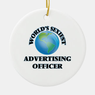 World's Sexiest Advertising Officer Christmas Ornaments