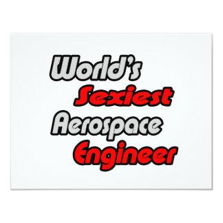World's Sexiest Aerospace Engineer Custom Invitation