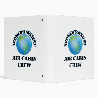 World's Sexiest Air Cabin Crew Vinyl Binders