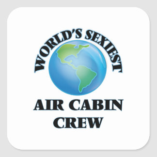 World's Sexiest Air Cabin Crew Square Sticker