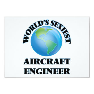World's Sexiest Aircraft Engineer 5x7 Paper Invitation Card