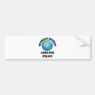World's Sexiest Airline Pilot Bumper Stickers
