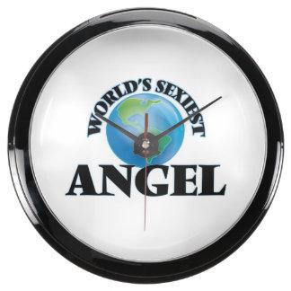 World's Sexiest Angel Aqua Clock