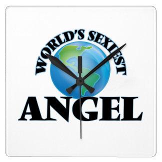World's Sexiest Angel Square Wall Clocks