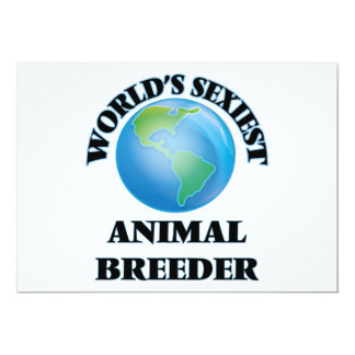 World's Sexiest Animal Breeder 5x7 Paper Invitation Card