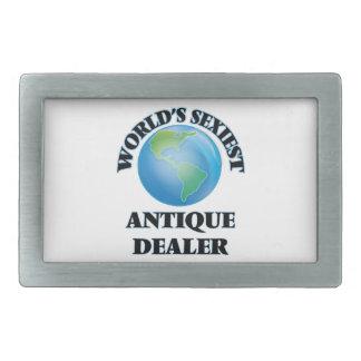 World's Sexiest Antique Dealer Rectangular Belt Buckles