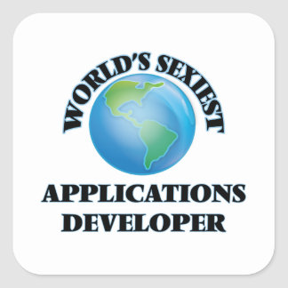 World's Sexiest Applications Developer Square Sticker