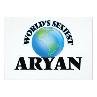 "World's Sexiest Aryan 5"" X 7"" Invitation Card"