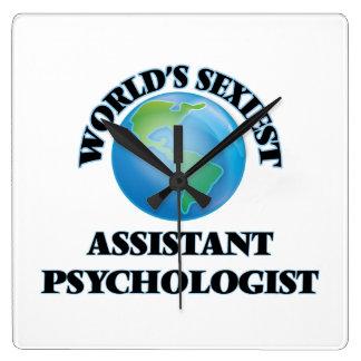 World's Sexiest Assistant Psychologist Square Wallclocks