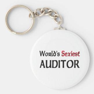 World's Sexiest Auditor Basic Round Button Keychain
