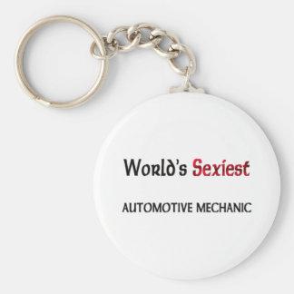 World's Sexiest Automotive Mechanic Basic Round Button Keychain