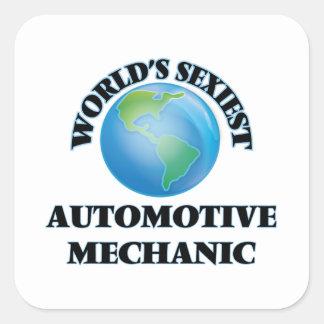 World's Sexiest Automotive Mechanic Square Sticker