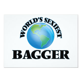 World's Sexiest Bagger 5x7 Paper Invitation Card