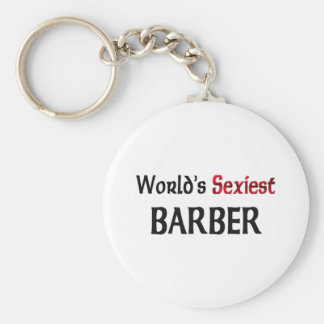 World's Sexiest Barber Key Chain