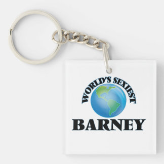 World's Sexiest Barney Square Acrylic Keychain